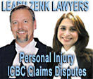 Gordon Zenk, LLB with Associate Shelina Shariff, JD, personal injury lawyers with Learn Zenk  - CLICK TO WEBSITE
