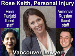 Photo of Rose Keith & her 2 paralegal staff fluent in Hindi, Punjabi, Russian and Armenian languages to better serve ESL clients in Vancouver