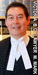 Michael Mark, wills disputes, wills variation act, estate litigator,  lawyer wearing court robes in Victoria B.C. office