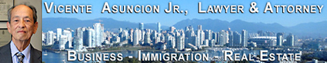 Vicente Asuncion Jr., fluent in Tagalog, Spanish & English - Canada Immigration Lawyer  and Philippine Attorney  - office view of Vancouver over False Creek