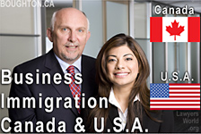 Bruce Harwood, Canadian Business Immigration Laywer and Saba Naqvi,  Canadian Lawyer and practising USA Immigration Attorney, called to the State of California  Bar - assists clients wishing to immigrate to the USA