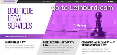 Click to LEINBURD.COM Sorel Leinburd's website on his Corporate-Intellectual Property and Commercial transactions Boutique firm based in Vancouver, BC