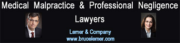 Bruce Lemer with over 30 years experience in personal injury and medical malpractice and associate Felicity Schweitzer, BA LLB